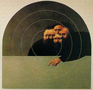"""Alfredo Castaneda, """"Aquí es el centro,"""" 1984"""